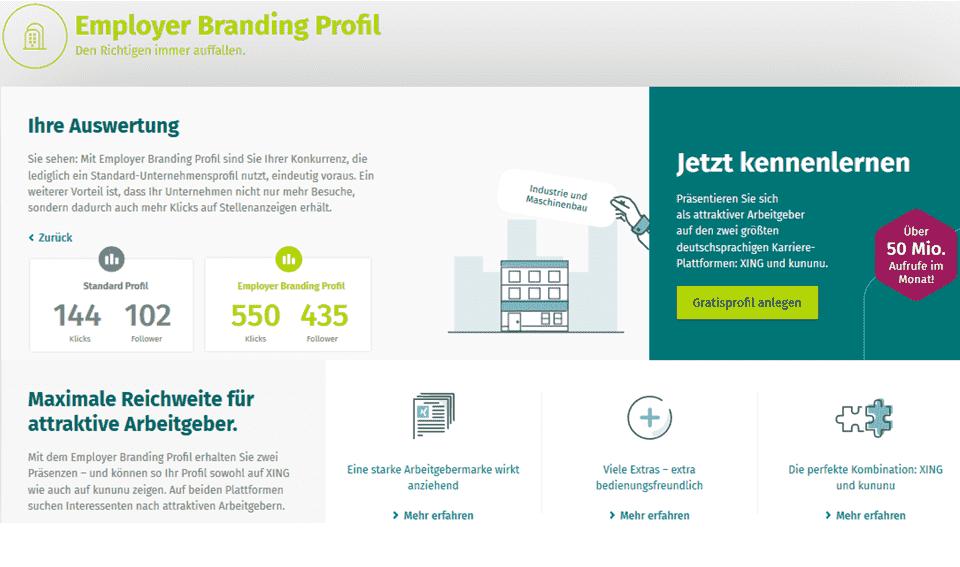 Employer Branding Profil auf XING - wann und für wen ist es sinnvoll