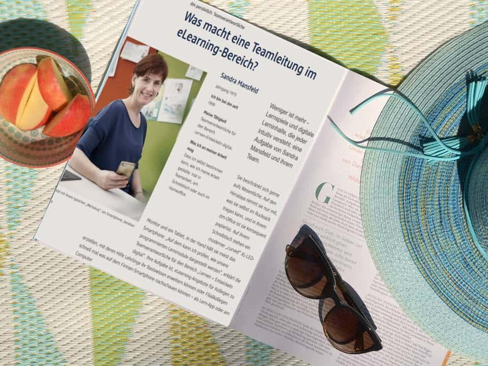 Offline-Personalmarketing im Printformat durch Mitarbeitervorstellung in der Zeitschrift