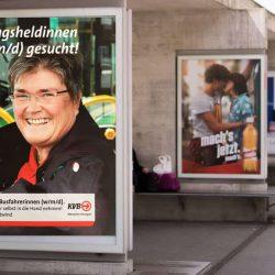 Offline-Personalmarketing in Form von Außenwerbung an Bushaltestellen
